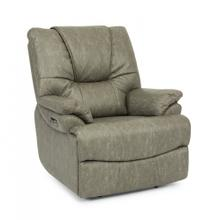 Willis Power Recliner with Power Headrest & Lumbar in Light Grey Fabric
