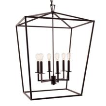 Cage Large Chandelier - Bronze