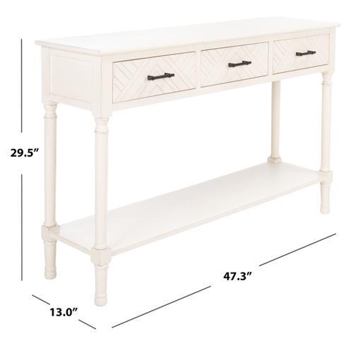 Safavieh - Peyton 3 Drawer Console Table - Distressed White