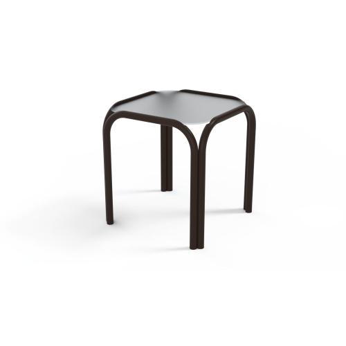 """Obscure Acrylic Top Table 17"""" Square End Table"""