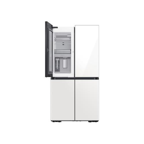 29 cu. ft. Smart BESPOKE 4-Door Flex™ Refrigerator with Customizable Panel Colors in White Glass