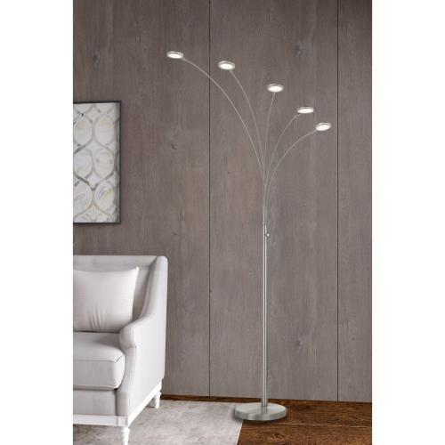 Cremona integrated LED Metal Arc Floor Lamp