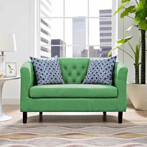 Prospect Upholstered Fabric Loveseat in Kelly Green