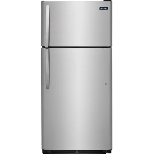 Crosley Top Mount Refrigerator - Stainless-look