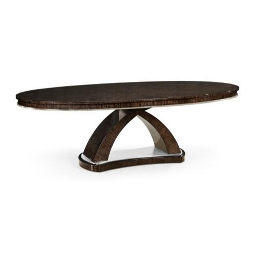 95'' Black Eucalyptus Oval Dining Table