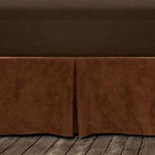 "Microfiber Suede Bedskirt, Copper (16""/18"" Drop) - Queen"