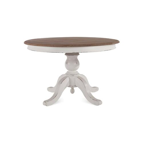 Farmhouse Round Pedestal Table 48''