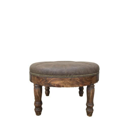 Round Chocolate Ottoman