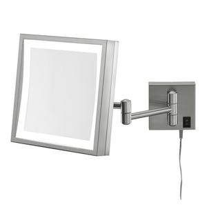 Kimball & Young - Chrome Square LED Lighted Wall Mirror