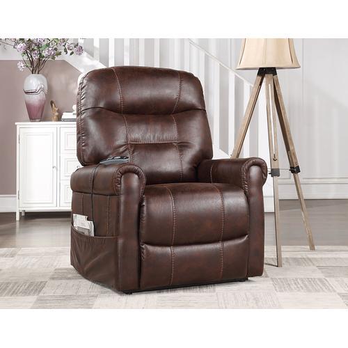 Steve Silver Co. - Ottawa Power Lift Chair with Heat and Massage, Walnut