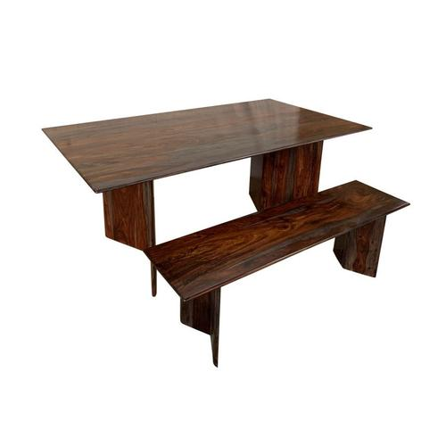 COMING SOON, PRE-ORDER NOW! Cambria Midnight Dining Table & Bench, D8396-M