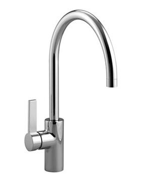 Single-lever mixer lever on left - chrome Product Image