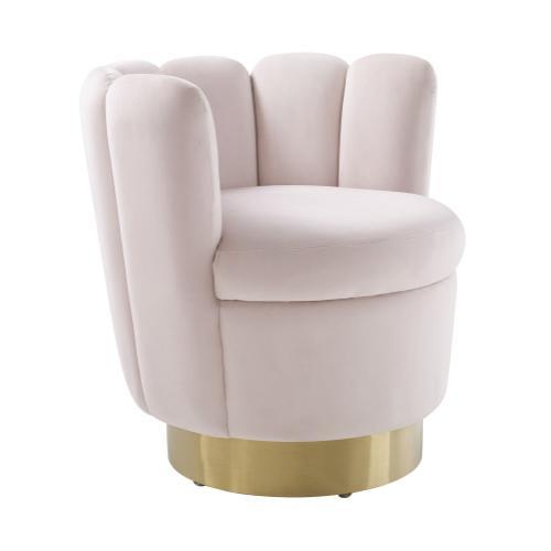 Yad Blush Velvet Swivel Chair