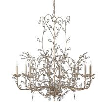 View Product - Crystal Bud Silver Large Chandelier