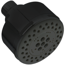 Multifunction Round Showerhead Black