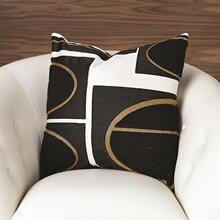 Brass Loop Pillow-Beige/Black
