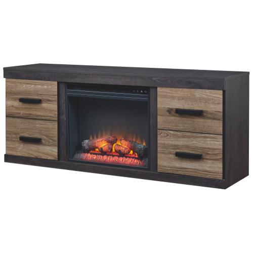 """Signature Design By Ashley - Harlinton 63"""" TV Stand With Electric Fireplace"""