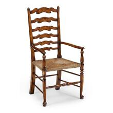 Walnut country ladderback chair (Arm)