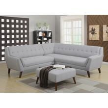 Emerald Home Binetti 2pc Sectional-cement U3216m-11-12-09-k