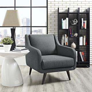 See Details - Verve Upholstered Fabric Armchair in Gray