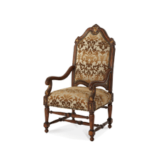 High Back Wood Chair - Opt1