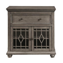 Ash grey kd two door one drawer console