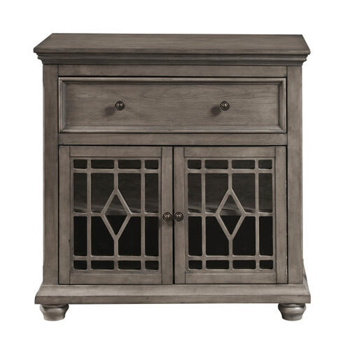 Two Door, One Drawer Console in Ash Grey