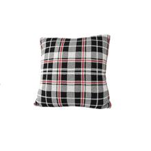 Black, White & Red Knit Pillow