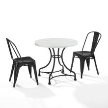 "MADELEINE 32"" 3PC DINING SET W/ AMELIA CHAIRS"