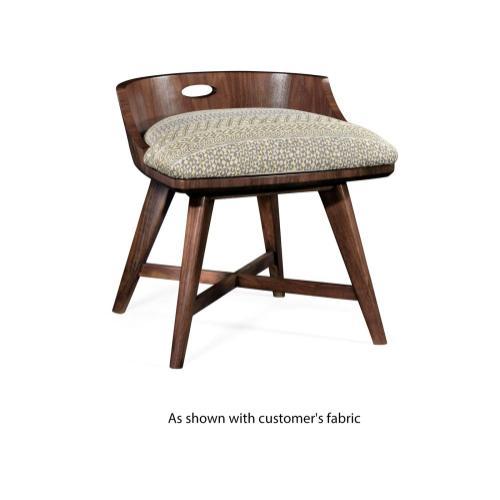 Vanity chair upholstered in COM