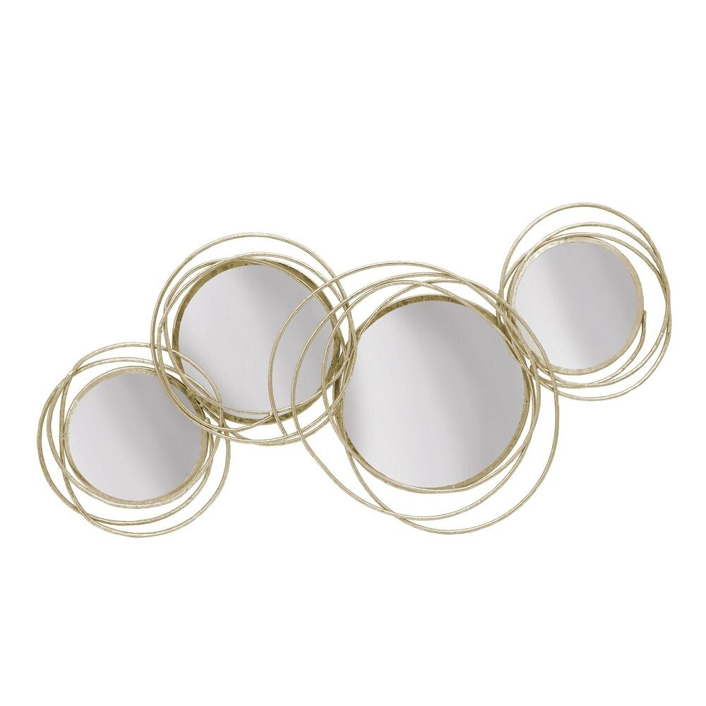 See Details - Looped Gold 4 Circle Mirrors, Wb