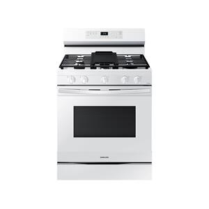 6.0 cu. ft. Smart Freestanding Gas Range with Integrated Griddle in White Product Image