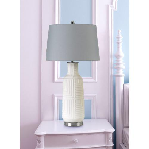 Fiumicino Ceramic Table Lamp With Hardback Fabric Shade With inner Lining