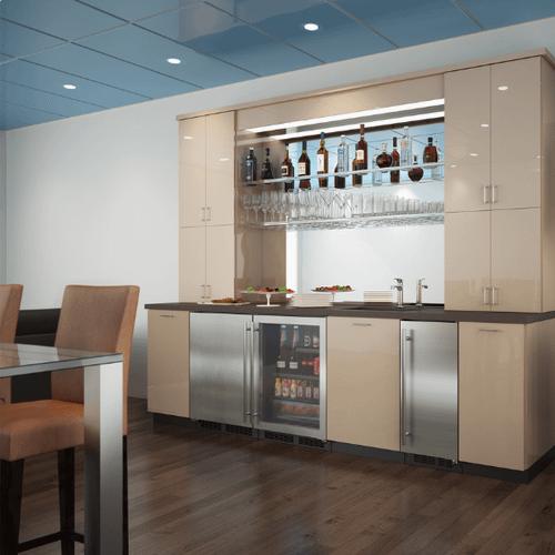 Gallery - 24-In Low Profile Built-In Refrigerator With Maxstore Bin And Door Storage with Door Style - Stainless Steel, Door Swing - Left