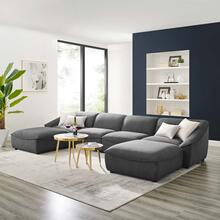 Comprise 6-Piece Living Room Set in Charcoal