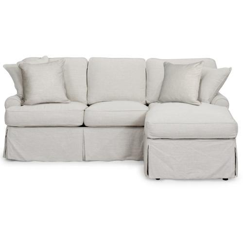 Horizon Slipcovered Sleeper Sofa and Chaise - Color: 220591