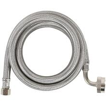 View Product - Braided Stainless Steel Dishwasher Connector with Elbow, 4ft