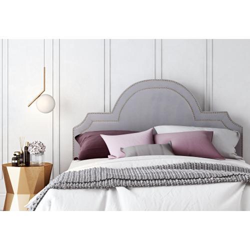 Product Image - Laylah Full Headboard in Grey Velvet