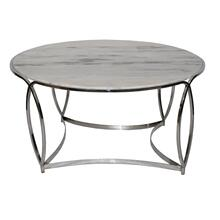 St. Claire Round Marble Cocktail Table