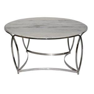 Crestview St. Claire Round Marble Cocktail Table