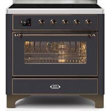 Majestic II 36 Inch Electric Freestanding Range in Matte Graphite with Bronze Trim