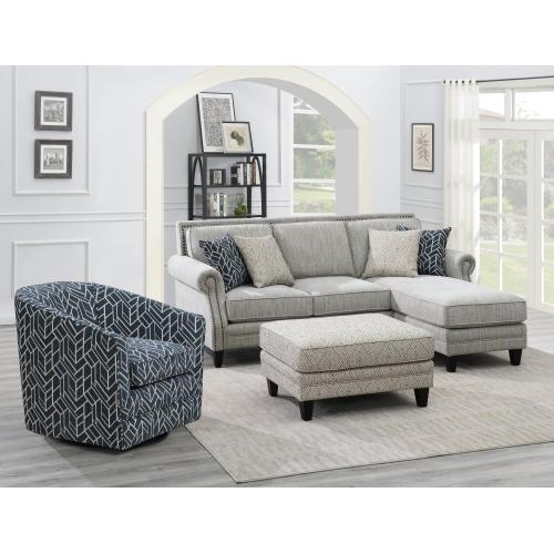 Emerald Home Trilogy U4198-22-05 Ct Ottoman