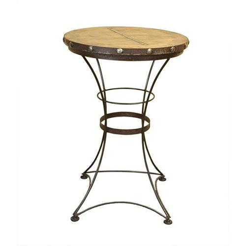 Pub Table W/Iron Base & Wood Top