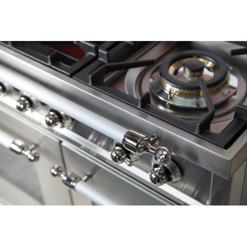 Nostalgie 36 Inch Dual Fuel Liquid Propane Freestanding Range in Stainless Steel with Chrome Trim
