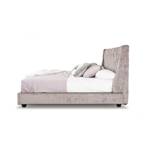 Modrest Dane -Transitional Tufted Fabric Bed with Lift Storage
