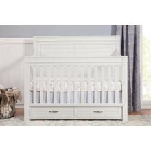 See Details - Heirloom White Wesley Farmhouse 4-in-1 Convertible Storage Crib -
