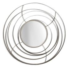ORBITAL MIRROR I  1in X 27in  Orbital Mirror I  Contemporary Silver Finish Metal Wall Mirror