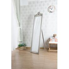 7056 SILVER Full Length Standing Crown Mirror