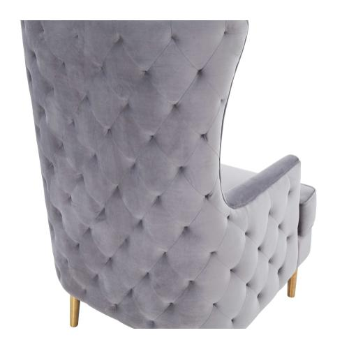 Alina Grey Tall Tufted Back Chair by Inspire Me! Home Decor