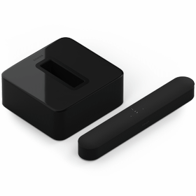 Black- A smart soundbar and wireless subwoofer for TV, music, and more.